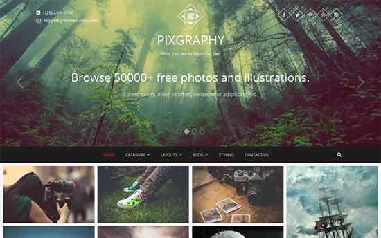 Pixgraphy Portfolio Theme