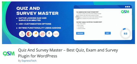 Quiz And Survey Master Quiz Plugin