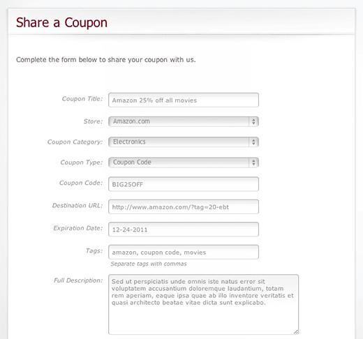 Share Coupon