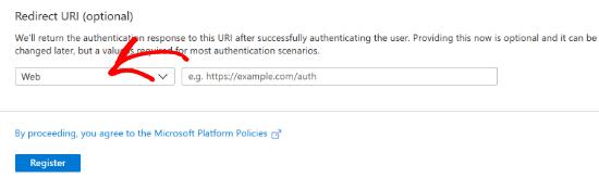 Keep Redirect Settings To Web