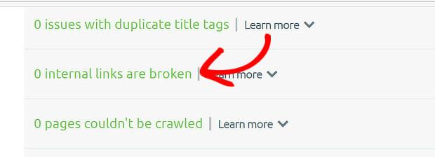 Semrush Broken Image Links Detail