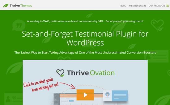 Thrive Ovation Website