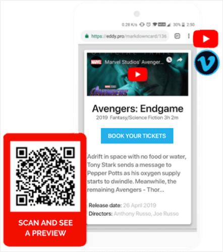 Video Qr Code Banner