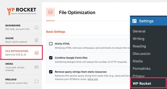 Wprocket Fileoptimization