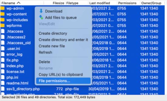 Access File Permissions