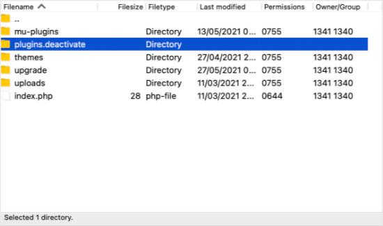 Accesspluginsdeactivated