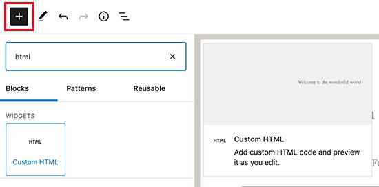 Custom Html Block
