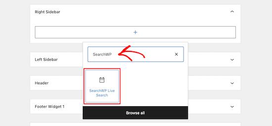 Add Searchwp Live Widget