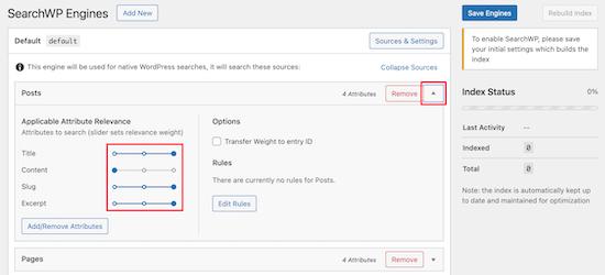 Adjust Search Engine Attributes