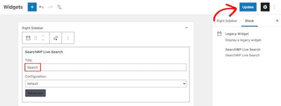 Save Search Widget